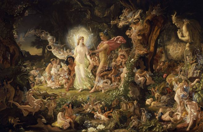 The Quarrel of Oberon and titania, Joseph Noel Paton